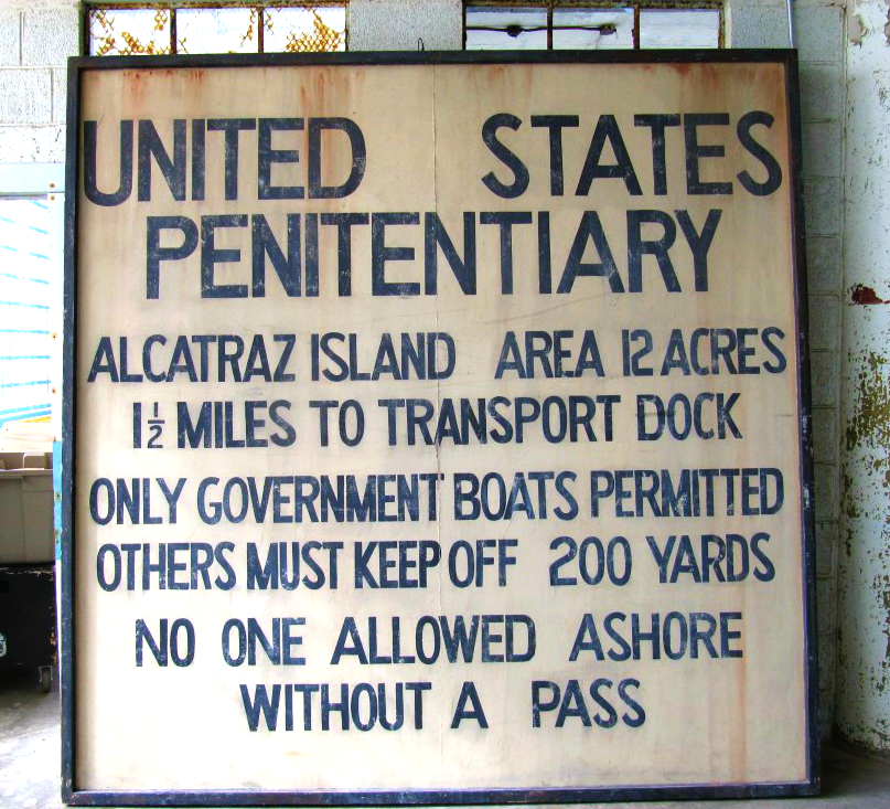 Entrance Sign to Alcatraz