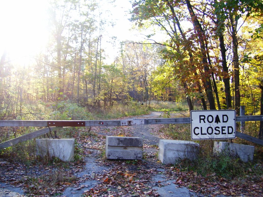 Road Closed at Stull Cemetery